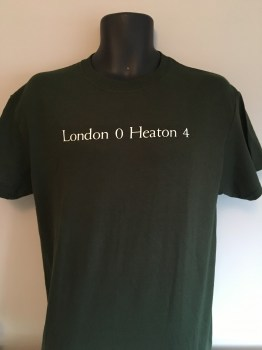 London 0 Heaton 4 t-shirt dark green